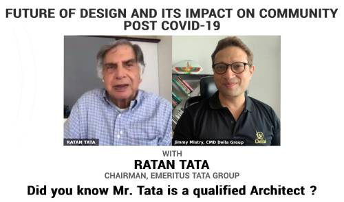 A unique webinar on design with Mr. Ratan Tata, Mr. Jimmy Mistry & Mr. Peter Rich