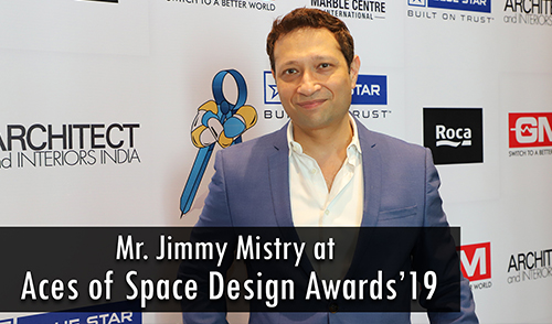 Mr. Jimmy Mistry at Aces of Space Design Awards'19