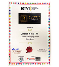 Business Leader of the year by BTVI for Della Group 2019