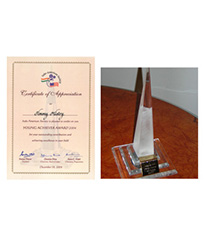 Young Achiever Award by Indo-American Society 2004
