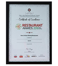 Restaurant Awards 2018 - Best 24-hour Dining Restaurant