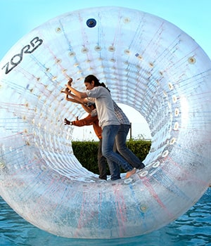 Roller Zorbing at Della Adventure Park