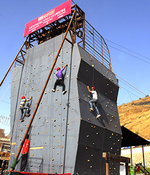 Artificial Rock Climbing at Della Adventure Park