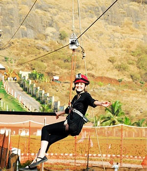 India's Longest Flying Fox at Della Adventure Park