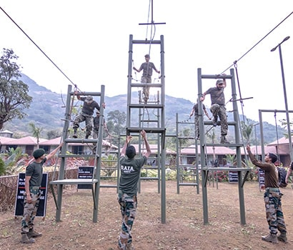 Performing Military Style Obstacle Courses at D.A.T.A. Resort