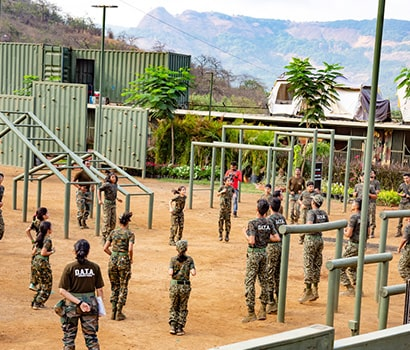 Military Style Obstacle Course at D.A.T.A. Resort
