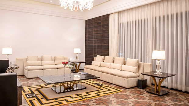 Interior Design of Drawing Room of Della Villas