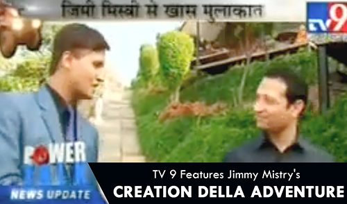 TV9 features Jimmy Mistry's Della Adventure