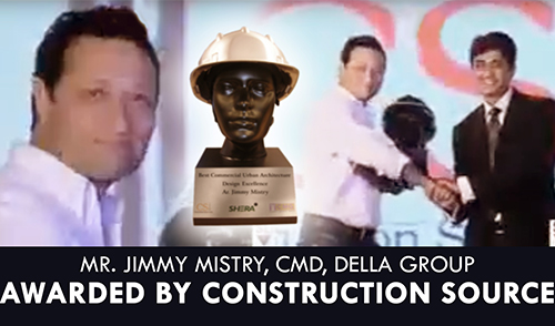 Jimmy Mistry Awarded by Construction Source