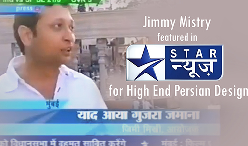 Jimmy Mistry featured in Star News for Persian Desig