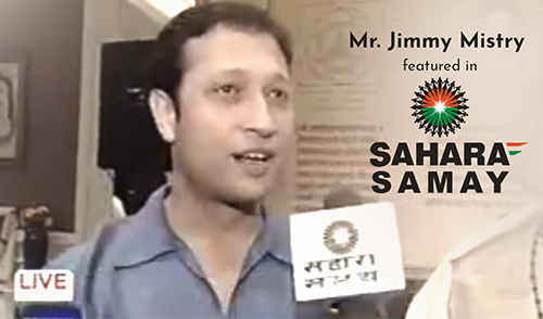 Mr. Jimmy Mistry featured in Sahara Samay